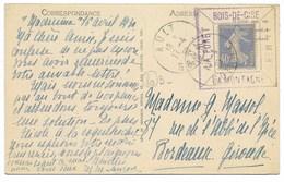 Tampon Porte-Timbre BOIS-DE-CISE LA MER/LA MONTAGNE/LE FORET...1930/N°237 Sur Carte-Postale - Marcophilie (Lettres)