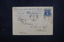 INDE - Entier Postal Pour La France En 1895, Oblitérations à Voir - L 52952 - 1882-1901 Imperium