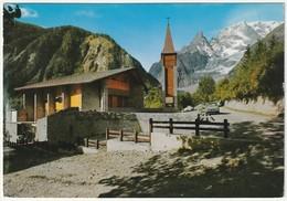 COURMAYEUR-ENTREVES - AOSTA - LA NUOVA CHIESETTA - VIAGG. 1968 -45357- - Italia