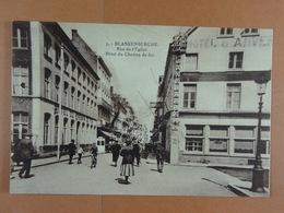 Blankenberghe  Rue De L'Eglise Hôtel Du Chemin De Fer - Blankenberge