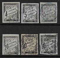 Colonies Générales N° 4 - 5 - 7 - 8 - 10 - 11  Oblitérés  - Cote : 61 € - Postage Due