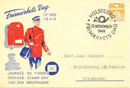 Denmark Card Stamp's Day Holstebro 13-11-1949 - Journée Du Timbre