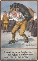 """Donald McGill. I Used To Be A Coalheaver- But.."" Inter-Art Comique Series PC # 1707 - Mc Gill, Donald"