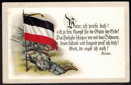 Ansichtskarte I. WK. Feldpost Spruch Körner 1916 - War 1914-18