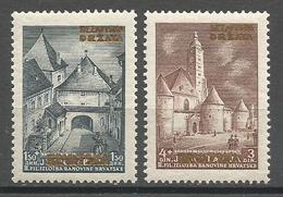 Croatia,NDH,HFS With Gold Overprint 1941.,MNH - Croatia