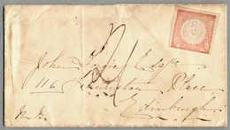 Beleg 1866, Cover From CALLAO/Peru Via LONDON To EDINGBURGH/Scotland, With Cancellation Of The British Post Office Abroa - Peru