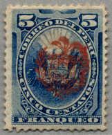 * 1882/82, 5 C., Blue, Stamp Of Peru With Red Chilenian Crest Opt, POG, VF!. Estimate 80€. (Michel: 4a) - Peru