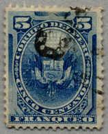 Gest. 1884, 5 C., Blue, Peru Local Post During Chilenian Occupation, Black Opt, Used, VF!. Estimate 140€. (Michel: 3) - Peru