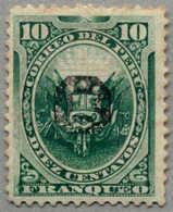 O. Gummi 1884, 10 C., Green, Peru Local Post During Chilenian Occupation, Black Opt, VF!. Estimate 90€. (Michel: 4) - Peru