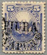 O. Gummi 1884, 5 C., Ultramarine, Peru Local Post During Chilenian Occupation, Opt PIURA VAPOR, Unused No Gum, VF!. Esti - Peru