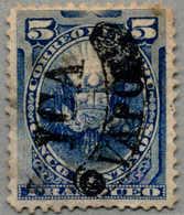 Gest. 1884, 5 C., Blue, Peru Local Post During Chilenian Occupation, Opt YCA VAPOR, Light Cancel, F!. Estimate 220€. (Mi - Peru