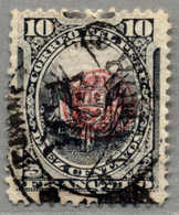 Gest. 1898, 10 C., Slate, With Black YCA/VAPORE And Carmine /J/ Opt, Used, Very Fresh And Rare Copy, VF!. Estimate 300€. - Peru
