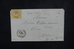FRANCE - Lettre De Verdun / Meuse Pour Verdun En 1854, Affranchissement Napoléon 10ct , PC 3522 - L 52968 - Marcophilie (Lettres)