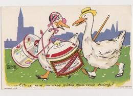 Cpa  Humoristique D'Edouard Bernard / Cane Portant Une Terrine AUG.MICHEL . STRASBOURG Suivie Par Un Canard - Illustratoren & Fotografen