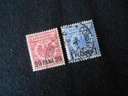 D.R. Mi 7d/8d - Deutsche Auslandpostämter (Türkei) - 1889 - Mi 7,50 € - Geprüft Jäschke - Offices: Turkish Empire