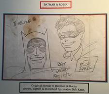 BOB KANE: Batman And Robin Original Sketch (DC, 1972).  (USA Comic Book Bande Dessinée Autograph Autographe Illustateur - DC