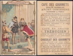 """Chromo """" Chocolat Et Café Des Gourmets""""  """"Le Jour Des Etrennes""""  Trébucien (VG) DC6661 - Thé & Café"""