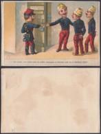 """Chromo """"Salle De Police Des Soldats""""  (VG) DC6676 - Chromos"""