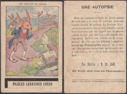 """Chromo """"Les Oreilles Du Lièvre""""  Pillules Laxatives Lucas (VG) DC6679 - Chromos"""