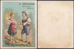 """Chromo """"Mariage Miniature""""  E. Desvignes - Miel (VG) DC6680 - Kaufmanns- Und Zigarettenbilder"""