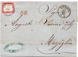"""ITALIE : N° 4 .DE """" GÈNES """" . POUR MARSEILLE . 1862 . ( CATALOGUE YVERT ) . - 1861-78 Vittorio Emanuele II"""