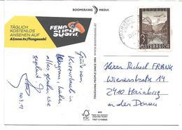 1618q: Fakeverwendung Der 3.- S Luftpostmarke 1947 (ungültig !) 23.09.19 Zustellbasis 2440 Gramatneusiedl - Bruck An Der Leitha
