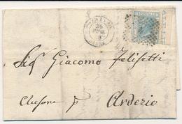 1868 BERGAMO BASSA DC NUMERALE A PUNTI CON TESTO - Marcofilía