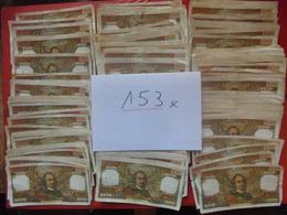 FRANCE LOT 153 BILLETS 100 FRANCS TOUS CIRCULER ENTRE 1964 Et 1977 (VOIR DETAIL) - Monnaies & Billets