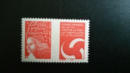 France Timbre NEUF  N° 3689  - MARIANNE DE LUQUET Avec Logo Du Fonds Mondial De Lutte Contre Le SIDA... - Année 2004 - - Francia
