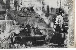CHAUDES AIGUES (Cantal 1913) : La Grande Source Avec Commentaire (écrite En 1918) - Altri Comuni