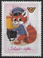 1618l: Postfuchs- Vignette Ca. 1960, Ungebraucht (im ANK Gelistet) - Österreich