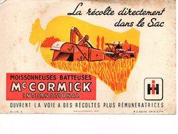 Buvard Mc Cormick MoissonneuseS Batteuses Matériel Agricole - Agriculture