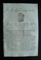 Pietro Leopoldo Num XI Regolamento Comunità Di Bucine E Val D'Ambra 1774 - Vecchi Documenti