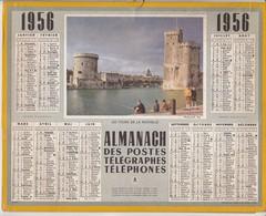 Calendrier 1956 ALMANACH Des Postes, Télégraphes Et Téléphones / LES TOURS DE LA ROCHELLE / SEINE - Calendriers
