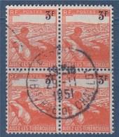 = Bloc De 4 Timbres Au Profit Des Tuberculeux Oblitéré N°750 Le 3f Sur 2f + 1f Orange (type Du 736) - Otros