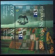 Schach Chess Ajedrez échecs - Slowenien Slovenia 2002 - Schacholympiade, Bled - MiNr Block 16 (407-408) - Schach