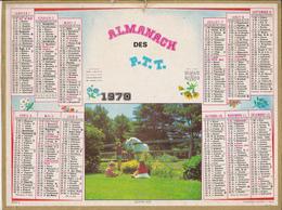 Calendrier 1970 ALMANACH Des P.T.T. / QUATRE AMIS (Enfants, Cheval) / MARNE (51) - Calendriers