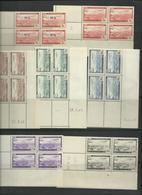 Algérie PA 1 à 6 Compris 1A En Blocs De 4 Coins Datés, Cote 26€50 Neufs ** - Algérie (1962-...)