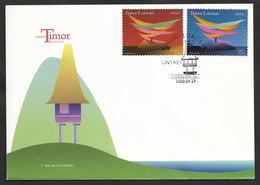 Timor Oriental UNTAET Mission Nations Unies 2000 Rare FDC East Timor UNTAET UN Mission 2000 FDC - East Timor