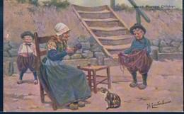 POSTAL HOLANDESA ILUSTRADA GERSTENHAUER - DUTCH PEASANT CHILDREN - Otros Ilustradores
