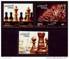 Schach Chess Ajedrez échecs - Jordanien Jordan  2012/3 - MiNr 2181-2183 - Schach