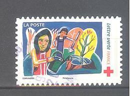 France Autoadhésif Oblitéré N°1422 (Au Profit De La Croix-Rouge) (cachet Rond) - Francia