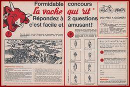 """Concours """" La Vache Qui Rit """". 1964. - Publicités"""