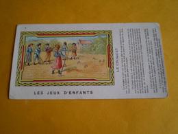 Carte Postale, Les Jeux D'enfants, Le Croquet  Avec La Règle Du Jeu Sur Le Côté - Postcards