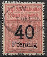 1618c3: Stempelmarke Der Sächsischen Staatseisenbahn - Deutschland
