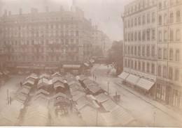 Photo Vers 1900 LYON - Place De La Victoire, Le Marché (A219, Ww1, Wk 1) - Lyon 3