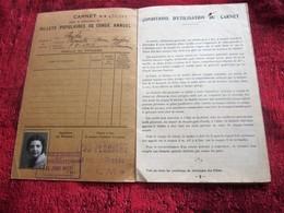 FRONT POPULAIRE 1937 DOCUMENT HISTORIQUE 1ER CONGÉS PAYES 1936 CARNET DÉLIVRANCE BILLETS CONGÉS ANNUELS TITRE TRANSPORT - Autres