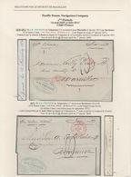 1870-1871. Deux Lettres De Valparaiso Pour Bordeaux Transportées Par Pacific Steam Navigation Company. SUP. - Chili