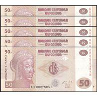 TWN - CONGO DEM. REP. 97A - 50 Francs 30.6.2013 DEALERS LOT X 5 - KD-H (HdM) UNC - Congo