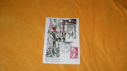 CARTE POSTALE FLORALIES INTERNATIONALES NANTES DE 1956../ CACHET NANTES + TIMBRE FLEURS ET PARFUMS - Marcophilie (Lettres)